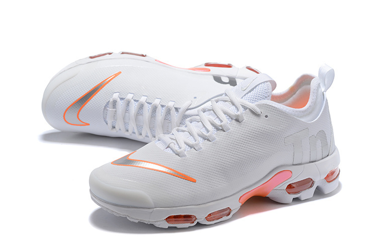 a4d70de426 ... Nike Mercurial Air Max Plus TN White Orange Unisex Sport Shoes ...