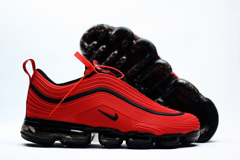 7d8434332b ... Nike Air VaporMax 2018 97 Big Red Black Men's Running Shoes ...