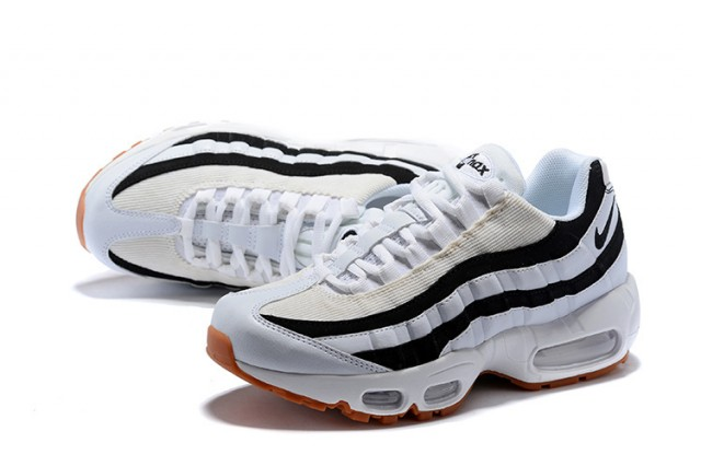 bb01255202c ... Sophisticated Technology Nike Air Max 95 Essential Black White Stripes  Light Brown 307960-112 Unisex ...