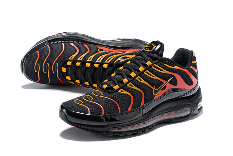 official photos 4fcc8 01573 ... Durable Nike Air Max 97 Plus Fish Bone Black Color Red Men s Running  Shoes ...