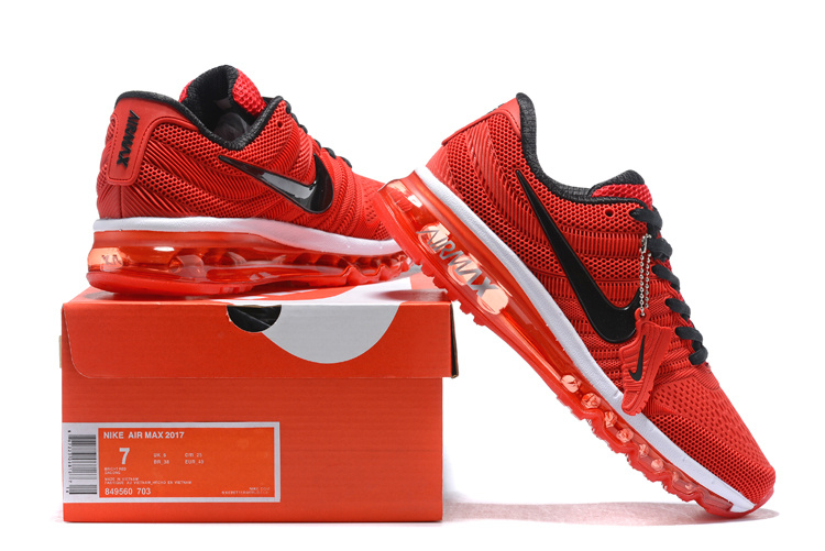 new arrival 78503 3d122 ... Reasonable Price Nike Air Max 2017 Chinese Red Black Men s Sport  Running Shoes