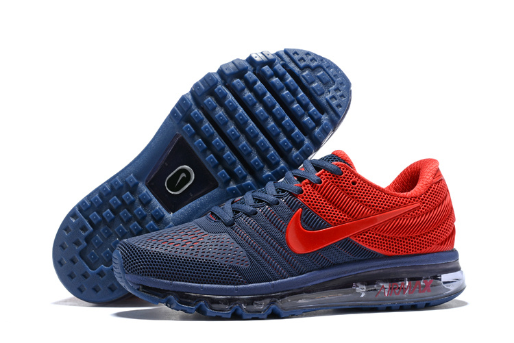 new concept e4fa1 2ccc4 ... Reliable Quality Nike Air Max 2017 Dark Blue Red Men s Sport Running  Shoes ...
