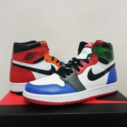 new style c052f a479c Sophisticated Technology Nike Air Jordan 1 Rainbow Women s Basketball Shoes