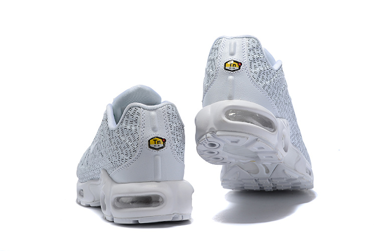 d12a3485981 ... Nike Air Max Plus TN White English Pattern 862201-103 Unisex Running  Shoes ...